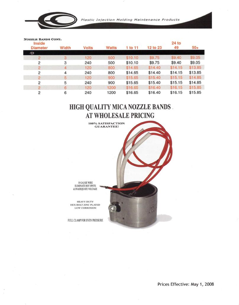RGL Sales Mica Heater Bands